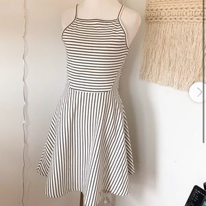 white and black h&m dress